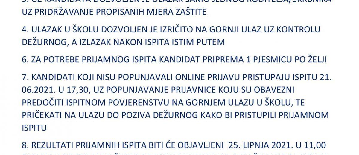 OBAVIJEST + RASPORED PRIJAMNIH ISPITA !!